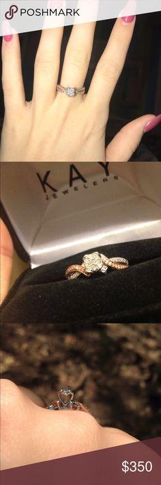 Kay jewelers Rose Gold/Diamond ring Size: 7  1/6 karat Diamond  1/3 Karat Rose Gold Kay Jewelers Jewelry Rings