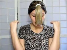 How to cut you own hair, long layers. Video is in Portuguese, but I think you can understand what she is doing just by watching the technique.