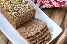 This low carb high protein nut and seed bread is gluten free and paleo. Easy to make, packed with nutrients and delicious!