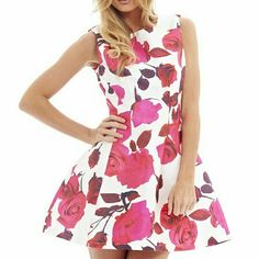 AX Paris floral aline dress This is absolutely stunning. Bought it for an event but after just having a baby it did not fit. Brand new never worn.  There is NO STRETCH to this. Dresses