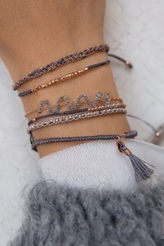 The only way for sweater weather to get any better is with a touch of sparkle #jewellery #jewellery #bracelets #gemstone #rose #new1moment WWW.NEWONE-SHOP.COM