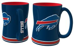 Buffalo Bills 14oz Sculpted Relief Coffee Mug