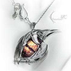 IGNISTHAR DRACO - silver and labradorite by LUNARIEEN.deviantart.com on @deviantART