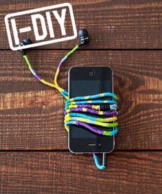 DIY Headphone Wrap - Earbud Cord How To
