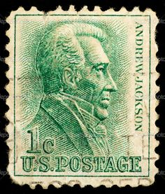 US Stamp - Andrew Jackson, 7th US Pres 1829-1837