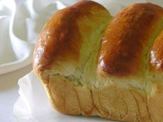 Picture of Asian Sweet Bread (Hong Kong Pai Bao, Hokkaido Milk Bread) - recipe used for dog shaped hot dog buns which are posted somewhere on my bread recipe.