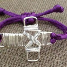 Wire wrapped sideways cross