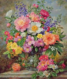 'June Flowers in Radiance' by Albert Williams
