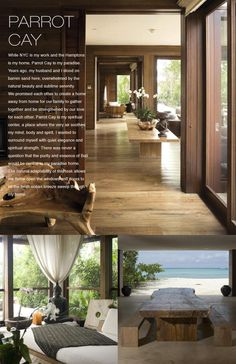 Urban Zen Home Collection (I love thewood color of the floors and walls. The furniture would need to be more aesthetically 'soft', but other than that... What a beautiful retreat