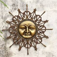 Even on gray days, you can have some sunshine in your outdoor living space with the San Pacific International Radiant Sun Outdoor Wall Art. The elegant wall art is constructed out of aluminum, so its glam bronze finish will not darken or rust with age. Target Wall Decor, Fish Wall Decor, Butterfly Wall Decor, Unique Wall Decor, Flower Wall Decor, Rustic Wall Decor, Wrought Iron Wall Decor, Metal Wall Decor, Outdoor Wall Art