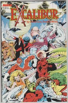 644 best Marvel Comic Books   TeamVintageUSA images on Pinterest Excalibur  The Sword is Drawn Vol 1  1  First Printing  Copper Age