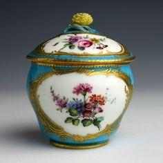 Tableware: A Sèvres Soft Paste Porcelain Sugar Bowl & Cover, circa 1764