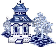 chinese pagoda: Chinese pagoda. Hand drawn vector isolated on white