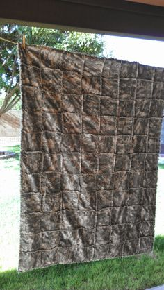 Crafty Camper Girl: My Favorite Rag Quilt........... Camo Style! (A Retake of My Favorite Denim Quilt)