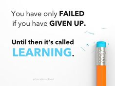 failure and learning.... Hmmm... Interesting idea. Might be a good discussion piece in Health class... or writing... And reading workshop.