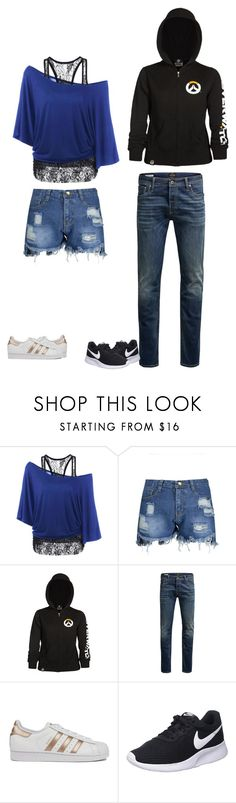 """""""Untitled #38"""" by brooke0512 on Polyvore featuring Jack & Jones, adidas and NIKE"""