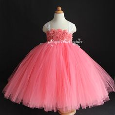 Hey, I found this really awesome Etsy listing at https://www.etsy.com/listing/206372110/coral-flower-girl-dress-shabby-flowers