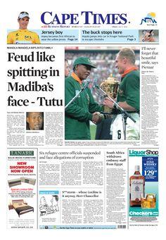 News making headlines: Feud like spitting in Madiba's face - Tutu