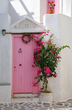 Pink door
