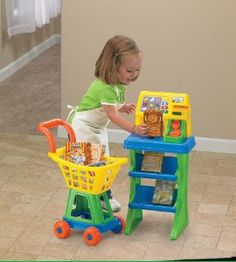 American Plastic Toys My Very Own Shop N Pay Market Set, Colors may vary