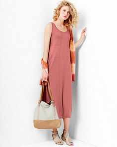 Eileen Fisher Viscose Jersey Tank Dress