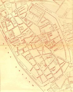 map of the center of Pest in 1893 - at this point the Elizabeth bridge is not built yet