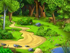 caminito en el bosque