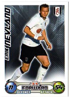 FULHAM - Erik Nevland Topps Match Attax 2008/09 Football Trading Card