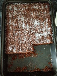 School cake: Chocolate Crunch! (chocolate concrete / chocolate brick)
