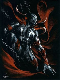 Spawn by Gabriele Dell'Otto Comic Art Spawn Marvel, Spawn Comics, Marvel Art, Marvel Dc Comics, Marvel Heroes, Rogue Comics, Comic Book Characters, Comic Books Art, Comic Art