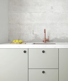Light green grey kitchen cabinets