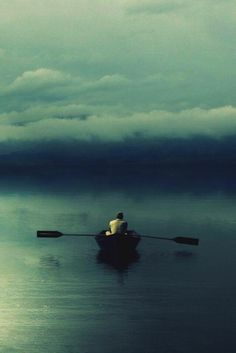 by oar