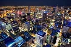 Night View of Melbourne by -yury-, via Flickr