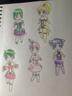 [by @MikanseiNingen] Cute little fruit magical girls or something, I really don't know XD