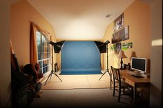 6 Tips for Setting Up a Home Photography Studio (with lighting and backdrops) @charmainehaskins