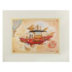 Your WDW Store - Disney Mark Jason Page Print - Mickey's Steam Powered Airship