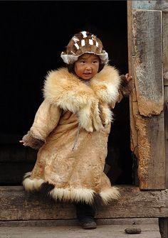 Little fox by Aleksander Kutskiy Chukchi girl
