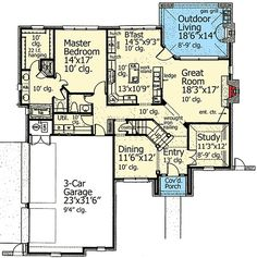 Plan 48393FM: First Floor Master