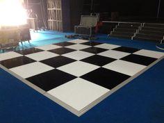 black & white check dance floor
