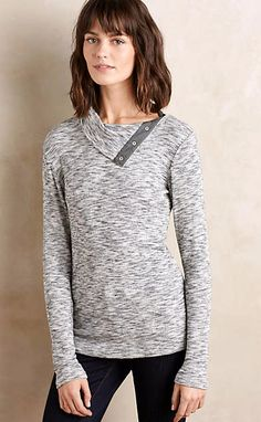 Snap-Neck Pullover #anthrofave