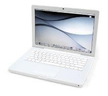 """APPLE MACBOOK A1342 CORE2 DUO 2GB RAM 320GB HDD 13""""  in buono stato ( graffi presenti)"""