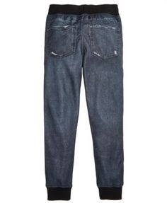 Ring of Fire Sublimated Denim Joggers, Big Boys (8-20), Created for Macy's - Black XL