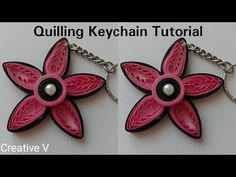 How to Make Quilling KeyChain / Tutorial/ Design 6 Quilling Keychains, Quilling Earrings, Paper Earrings, Hanging Earrings, Quilling Flower Designs, Paper Wall Hanging, Plastic Canvas Coasters, Crochet Snowflakes, Earring Tutorial