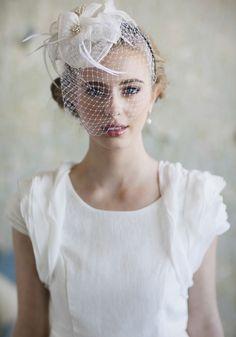 Ever Mine Ivory Fascinator | Modern Vintage Headpieces | Modern Vintage Accessories | Modern Vintage Bridal