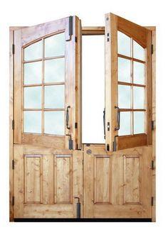 Double Dutch Door Ideas: want bottom of doors to be taller than top Interior Exterior, Exterior Doors, Interior Design, Door Design, House Design, French Doors, Dutch Doors, Patio Doors, Entry Doors