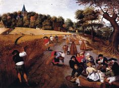 The Harvest - Pieter Brueghel the Younger - 1621