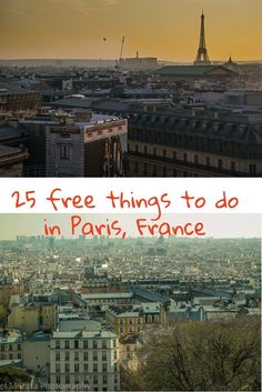 Free things to do in Paris France - Popular attractions and free must visit places in the city. This includes historic sites, unusual and cool areas to visit and scenic vista points of Paris.  Check out the highlights below  http://travelphotodiscovery.com/top-25-free-things-to-do-in-paris/