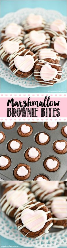 WHTI Compliant Journey Files And Passport Alterations After June Of 2009 Marshmallow Brownie Bites Recipe - Mini Brownies Topped With Strawberry Marshmallows And White Chocolate Mini Brownie Bites, Brownie Bites Recipe, Brownie Toppings, Brownie Bar, Brownie Recipes, Cookie Recipes, Marshmallow Brownies, Mini Brownies, Easy Desserts
