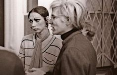 The Infamous 'Holly' from Lou Reed's - Take A Walk On The Wild Side, pictured with Andy Warhol. Holly Woodlawn, Candy Darling, Johnny Thunders, Paint Photography, Andy Warhol, Walk On, Embedded Image Permalink, Cool Kids, Superstar