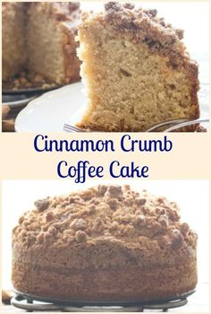 Cinnamon Crumb Coffee Cake, an easy delicious Coffee Cake recipe.  A…